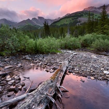 Kananaskis-Beaver-Pond-Sunset-1