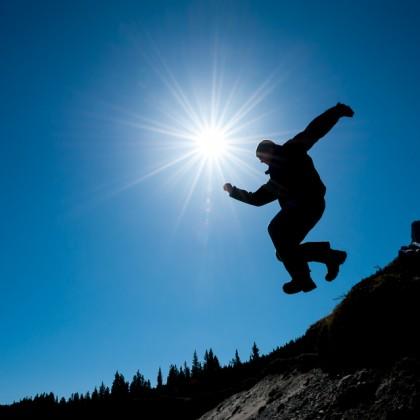 Man-Jumping-Cliff
