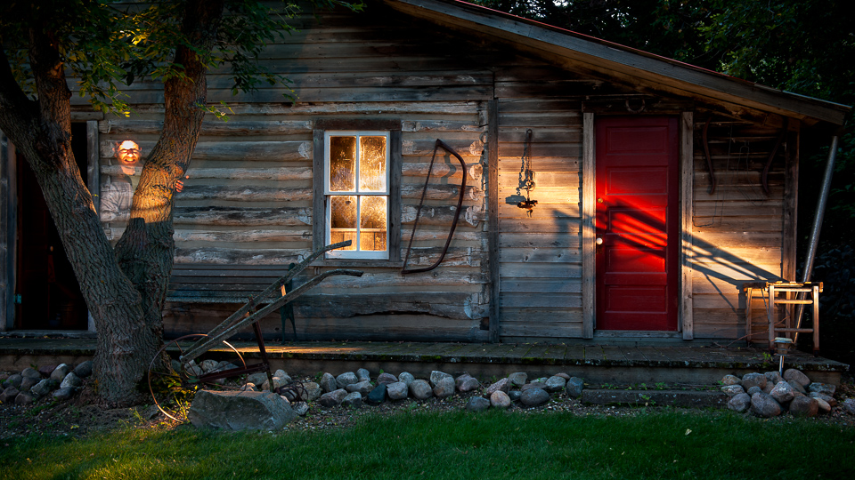 Old-Cabin-Light-Painted