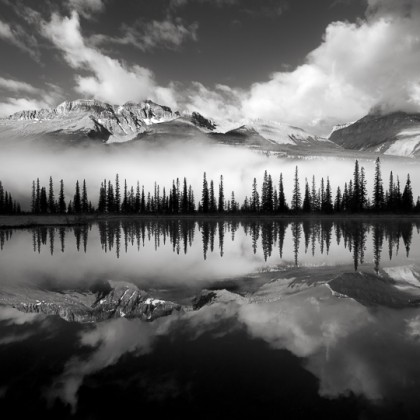 Rampart-Ponds-Mt-Amery-BW